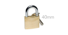 40mm Solid Brass Security Padlock