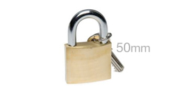 50mm Solid Brass Security Padlock