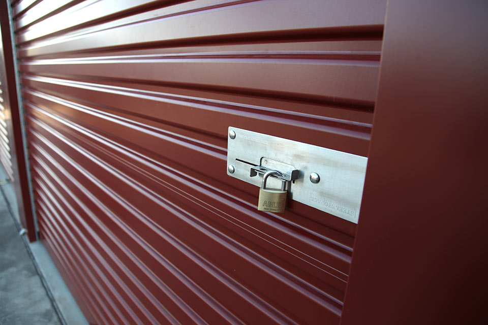 lock on storage unit door