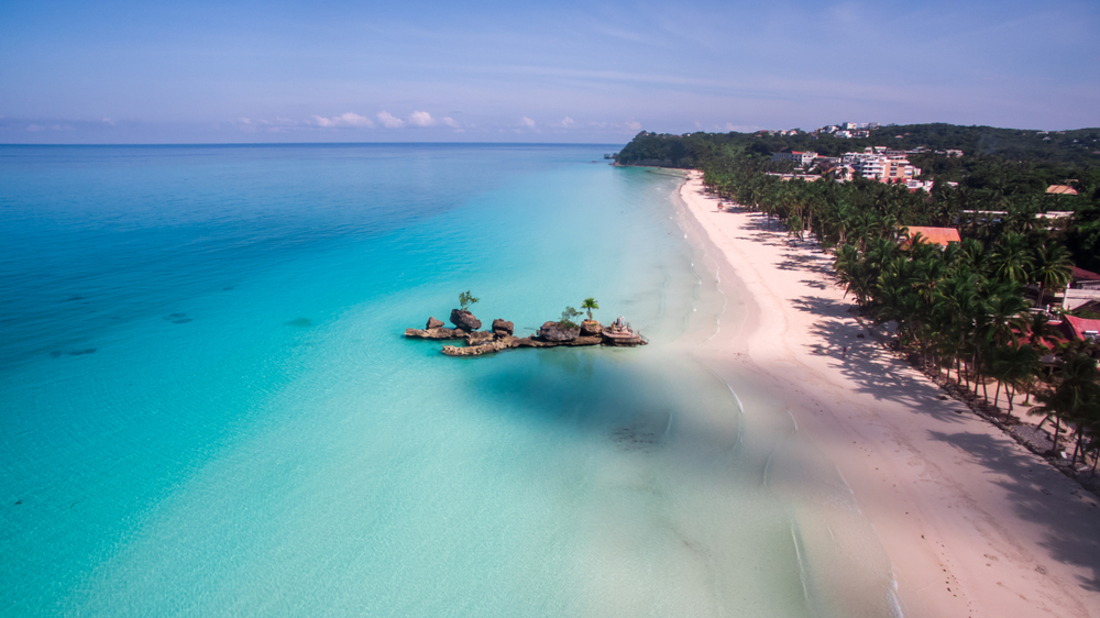 Aerial view of Boracay Island, Phillippines